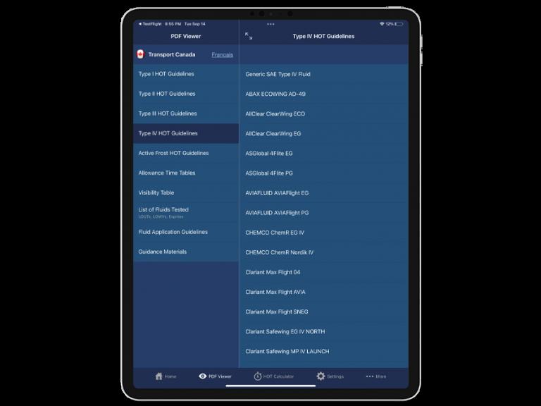 APS HOT app PDF viewer screenshot